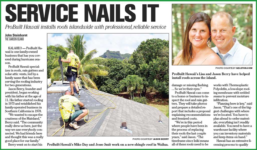 Probuilt Hawaii News Exclusively Serving The Island Of Kauai